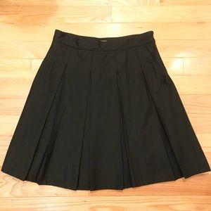 Burberry Box Pleat Black Skirt